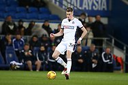 Reece Burke of Bolton Wanderers in action. EFL Skybet championship match, Cardiff city v Bolton Wanderers at the Cardiff city Stadium in Cardiff, South Wales on Tuesday 13th February 2018.<br /> pic by Andrew Orchard, Andrew Orchard sports photography.