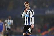 Jack Colback of Newcastle United looks on. Barclays Premier league match, Chelsea v Newcastle Utd at Stamford Bridge in London on Saturday 13th February 2016.<br /> pic by John Patrick Fletcher, Andrew Orchard sports photography.