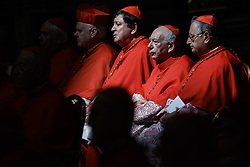 June 28, 2017 - Vatican City, Vatican - Pope Francis elevated 5 Roman Catholic bishops and archbishops to the rank of cardinal during the Ordinary Public Consistory in St. Peter's Basilica in Vatican City, Vatican on June 28, 2017. The 5 new cardinals are below 80 and would therefore be entitled to vote in a conclave to decide a new pontiff. (Credit Image: © Giuseppe Ciccia/Pacific Press via ZUMA Wire)