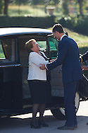 Michelle Bachelet and King Felipe VI of Spain received Michelle Bachelet Chilean President at Palacio de El Pardo on October 29, 2014 in Madrid