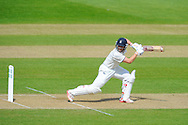 Warwickshire batsman Jonathan Trott looks back to the slips as he is dismssed off the bowling of Hampshire's James Vince during the Specsavers County Champ Div 1 match between Hampshire County Cricket Club and Warwickshire County Cricket Club at the Ageas Bowl, Southampton, United Kingdom on 12 April 2016. Photo by Graham Hunt.