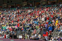 March 10, 2018 - Vancouver, British Columbia, U.S. - VANCOUVER, BC - MARCH 10: The crowd during Game # 13- England vs Samoa Pool B match at the Canada Sevens held March 10-11, 2018 in BC Place Stadium in Vancouver, BC. (Photo by Allan Hamilton/Icon Sportswire) (Credit Image: © Allan Hamilton/Icon SMI via ZUMA Press)