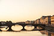 FLORENCE:  Ponte Santa Trinità in front of Ponte Vecchio