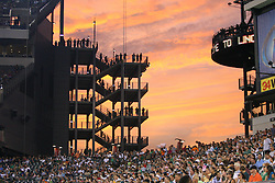 PHILADELPHIA - SEPTEMBER 2 : A view of the sunset over Lincoln Financial Field during a pre-season game between the Philadelphia Eagles and the New York Jets on September 2, 2010 at Lincoln Financial Field in Philadelphia, Pennsylvania. (Photo by Hunter Martin/Getty Images) *** Local Caption ***