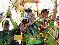 Cricket - 2019 Women's Cricket Kia Super League - Final: Western Storm vs. Southern Vipers<br /> <br /> Captain, Heather Knight of, Western Storm celebrates with the team at County Cricket Ground, Hove.<br /> <br /> COLORSPORT/ANDREW COWIE