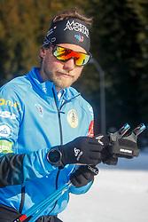 Antonin GUIGONNAT of France during the IBU World Championships Biathlon 15 km Mass start Men competition on February 21, 2021 in Pokljuka, Slovenia. Photo by Vid Ponikvar / Sportida