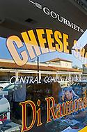 Front Window at Di Riamondo's Gourmet Cheese Shop. Paso Robles, San Luis Obispo County, California