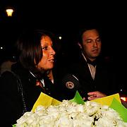 NLD/Blaricum/20100302 - Verrassing verjaardagparty Rachel Hazes in Blaricum, Rachel Hazes - van Galen en partner Niccoló Armaroli