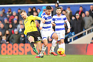 Burton Albion midfielder Luke Murphy (30) tackling Queens Park Rangers midfielder Massimo Luongo (21) during the EFL Sky Bet Championship match between Queens Park Rangers and Burton Albion at the Loftus Road Stadium, London, England on 28 January 2017. Photo by Matthew Redman.