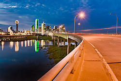View of downtown Dallas and Trinity River from Jefferson Viaduct, Dallas, TexasView of downtown Dallas and Trinity River from Jefferson Viaduct, Dallas, TexasView of downtown Dallas and Trinity River from Jefferson Viaduct, Dallas, Texas
