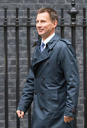 Downing Street, London, September 15th 2015.  Health Secretary Jeremy Hunt arrives at 10 Downing Street to attend the weekly cabinet meeting