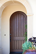 Old World Arched Front Door Entry Way