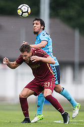(L-R) Ruben Rochina of FC Rubin Kazan, Yassin Ayoub of FC Utrechtduring the friendly match between FC Utrecht and FC Rubin Kazan at Hallein Gamp on July 02, 2017 in Hallein, Austria