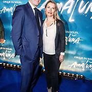 NLD/Amsterdam/201603157 - Premiere Cirque de Soleil - Amaluna, Elle van Rijn en partner Nicola Villa