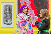 Grayson Perry chats in front of the works he curated Royal Academy celebrates its 250th Summer Exhibition, and to mark this momentous occasion, the exhibition is co-ordinated by Grayson Perry RA.