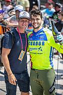 #593 (CAMPO Alfredo) ECU at Round 10 of the 2019 UCI BMX Supercross World Cup in Santiago del Estero, Argentina