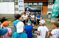 Kids day with Aljaz Bedene and Blaz Rola of Slovenia during Day 9 of ATP Challenger Zavarovalnica Sava Slovenia Open 2019, on August 17, 2019 in Sports centre, Portoroz/Portorose, Slovenia. Photo by Vid Ponikvar / Sportida