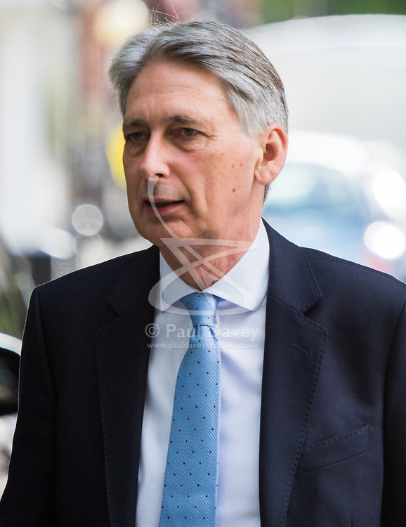 London, July 16th 2017. Chancellor Philip Hammond attends the BBC's Andrew Marr Show at Broadcasting House in London.