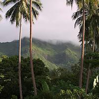 Fare, Huahine, French Polynesia, Mountains