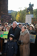 Hundreds of school children strike and march in protest against the governments inaction on climate change, November 30th 2019 in Arhus, Denmark. The protest is part of a global protest inspired by the Swedish climate activist Greta Thundberg who went on strike for the climate. The protest was energetic and peaceful in spite of the cold.