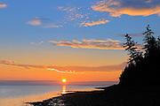 Sunrise on Caraquet Bay (Golf of St. Lawrence - Atlantic Ocean)<br /> Caraquet<br /> New Brunswick<br /> Canada