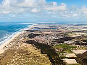 Nederland, Noord-Holland, Texel, 16-04-2012; Noordzee en Noordzeestrand met Nationaal Park Duinen van Texel, duinreservaat ter hoogte De Koog (in de achtergrond).National Park Dunes of Texel at the isle of Texel, near the village of De Koog. Northsea and beach..luchtfoto (toeslag), aerial photo (additional fee required);.copyright foto/photo Siebe Swart