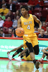 27 January 2018:  Bakari Evelyn during a College mens basketball game between the Valparaiso Crusaders and Illinois State Redbirds in Redbird Arena, Normal IL