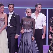 NLD/Hilversum/20120901 - 2de liveshow AVRO Strictly Come Dancing 2012, Naomi van As en danspartner Remi Janssen, Sabine Uitslag en danspartner Pascal Maassen, Ria Valk en danspartner