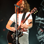 FAIRFAX, VA - July 12th, 2011 - Chris Cornell of reunited grunge heavyweights Soundgarden performs at the Patriot Center in Fairfax, VA. The band reunited last year after a 12 year break and are currently writing new material for an album to be released in 2012.  (Photo by Kyle Gustafson/For The Washington Post)