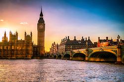 Big Ben e o Palácio de Westminster ao entardecer na  Cidade de Westminster, em Londres, Inglaterra. FOTO: Jefferson Bernardes/ Agência Preview
