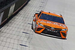April 13, 2018 - Bristol, Tennessee, United States of America - April 13, 2018 - Bristol, Tennessee, USA: Daniel Suarez (19) bring his racecar down the backstretch during opening practice for the Food City 500 at Bristol Motor Speedway in Bristol, Tennessee. (Credit Image: © Chris Owens Asp Inc/ASP via ZUMA Wire)