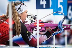 Ingrid Landmark Tandrevold (NOR)  during the Mass Start Women 12,5 km at day 4 of IBU Biathlon World Cup 2019/20 Pokljuka, on January 23, 2020 in Rudno polje, Pokljuka, Pokljuka, Slovenia. Photo by Peter Podobnik / Sportida