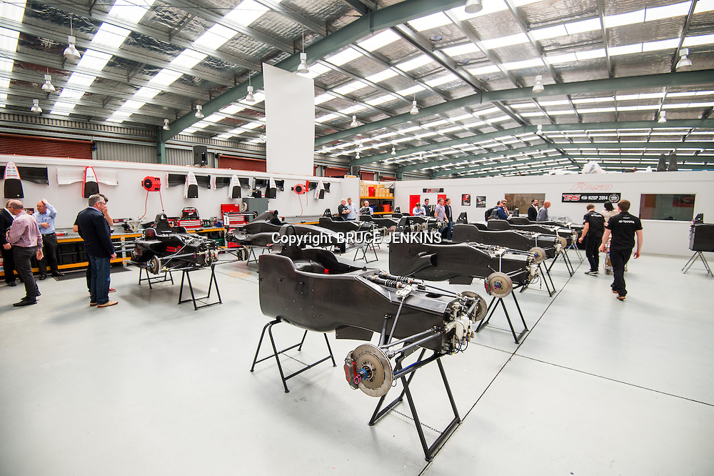 The all new FT-50 race car is is released at the Toyota Race Management headquarters in Auckland on Friday 17 October, 2014