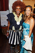 May 19, 2016-Brooklyn, NY: United States- (L-R) Photographic Artist Renee Cox and Producer Gabriel Glore attend the 2nd Annual (Museum of Contemporary African Diasporic Art (MoCADA) Masquerade Ball held at the Brooklyn Academy of Music on May 19, 2016 in Brooklyn, New York. (Terrence Jennings/terrencejennngs.com)