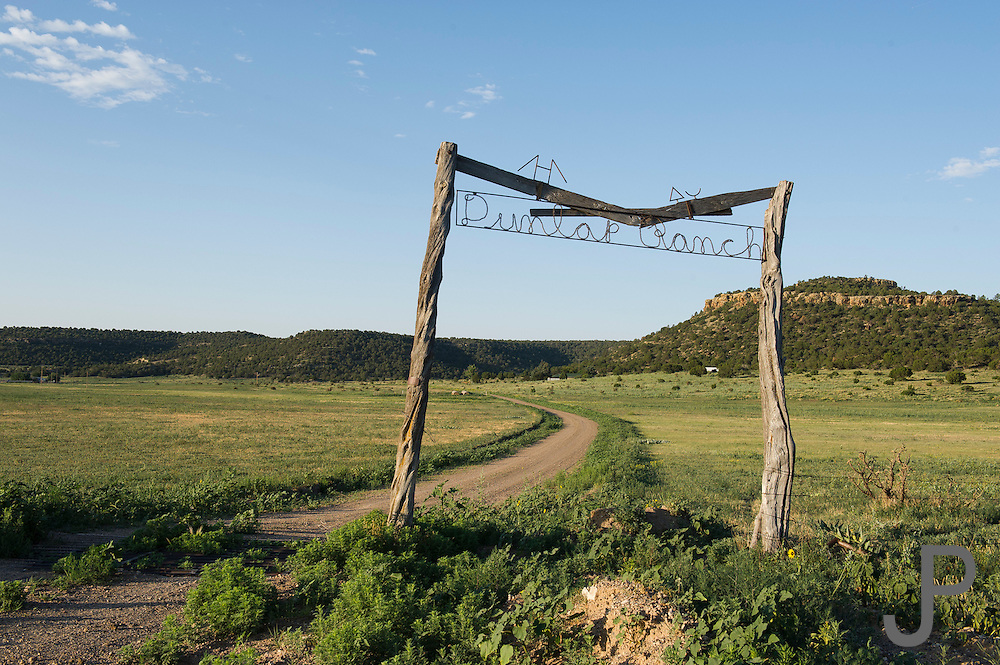 Dunlap Ranch in southeastern Colorado.  It is right on the border to New Mexico. This is a typical ranch entrance sign in the area.