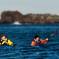 Iain King's Kayak practise, St Abbs