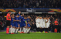 Football - 2018 / 2019 UEFA Europa League - Semi-Final, Second Leg: Chelsea (1) vs. Eintracht Frankfurt (1)<br /> <br /> Chelsea's Cesar Azpilicueta celebrates as Kepa Arrizabalaga saves in their 4-3 penalty shoot out victory after the scores finished 1-1 after extra time, at Stamford Bridge.<br /> <br /> COLORSPORT/ASHLEY WESTERN