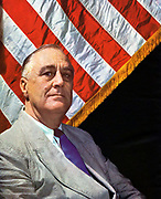 Franklin Delano Roosevelt (1882-1945) 32nd President of USA 1932-1945, photographed c1943.