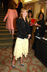 CLEMENTINE HAMBRO at '4 Inches' a project 'For Women about Women By Women' - A photographic Auction in aid of the Elton John Aids Foundation hosted by Tamara Mellon President of Jimmy Choo and Arnaud Bamberger MD of Cartier UK at Christie's, 8 King Street, London W1 on 25th May 2005.<br /><br />NON EXCLUSIVE - WORLD RIGHTS