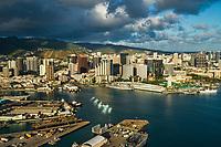 Honolulu Harbour & Downtown Honolulu