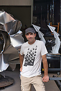 Artist Kevin Box inside his workspace at Box Studio on Saturday, July 18, 2020.
