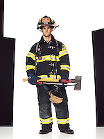 """Firefighter, Ladder 9, FDNY<br /> <br /> Cascone finished his training on September 10, 2001. The next morning his mother woke him and said there was a fire at the World Trade Center. He remembers being transported to his first assignment with 50 other firefighters. <br /> <br /> """"There was a chaplain on the bus and he was giving absolution to everyone."""""""