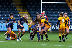 Laura Keates of Worcester Warriors Women poses questions for the Wasps defence - Mandatory by-line: Nick Browning/JMP - 24/10/2020 - RUGBY - Sixways Stadium - Worcester, England - Worcester Warriors Women v Wasps FC Ladies - Allianz Premier 15s