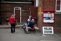 © under license to London News Pictures. London, UK. 05/05/2011. Voters today went to the polls in Maidstone, Kent, to vote in the referendum for reform in the voting system known as AV (Alternative Voting). The turnout is expected to be low. Photo credit should read MANU PALOMEQUE/LNP