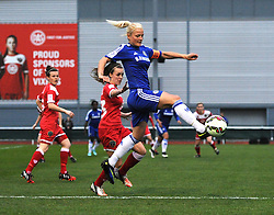 Katie Chapman, captain of Chelsea Ladies in action during the FA Women's Super League match between Bristol Academy Women and Chelsea Ladies at Stoke Gifford Stadium on 2 April 2015 in Bristol, England - Photo mandatory by-line: Paul Knight/JMP - Mobile: 07966 386802 - 02/04/2015 - SPORT - Football - Bristol - Stoke Gifford Stadium - Bristol Academy Women v Chelsea Ladies - FA Women's Super League