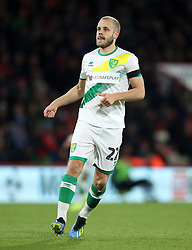 """Norwich City's Teemu Pukki during the Carabao Cup, Fourth Round match at the Vitality Stadium, Bournemouth. PRESS ASSOCIATION Photo. Picture date: Tuesday October 30, 2018. See PA story SOCCER Bournemouth. Photo credit should read: Adam Davy/PA Wire. RESTRICTIONS: EDITORIAL USE ONLY No use with unauthorised audio, video, data, fixture lists, club/league logos or """"live"""" services. Online in-match use limited to 120 images, no video emulation. No use in betting, games or single club/league/player publications."""