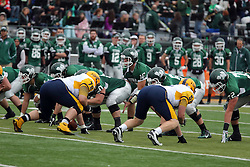18 October 2014:  Donovan Laible under center during an NCAA division 3 football game between the Augustana Vikings and the Illinois Wesleyan Titans in Tucci Stadium on Wilder Field, Bloomington IL