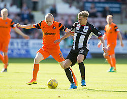 Dundee United's Willo Flood  and Dunfermline's Gavin Reilly. Dunfermline 1 v 3 Dundee United, Scottish Championship game played 10/9/2016 at East End Park.