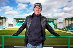 Irvine Welsh at Hibernian's Easter Road Stadium.