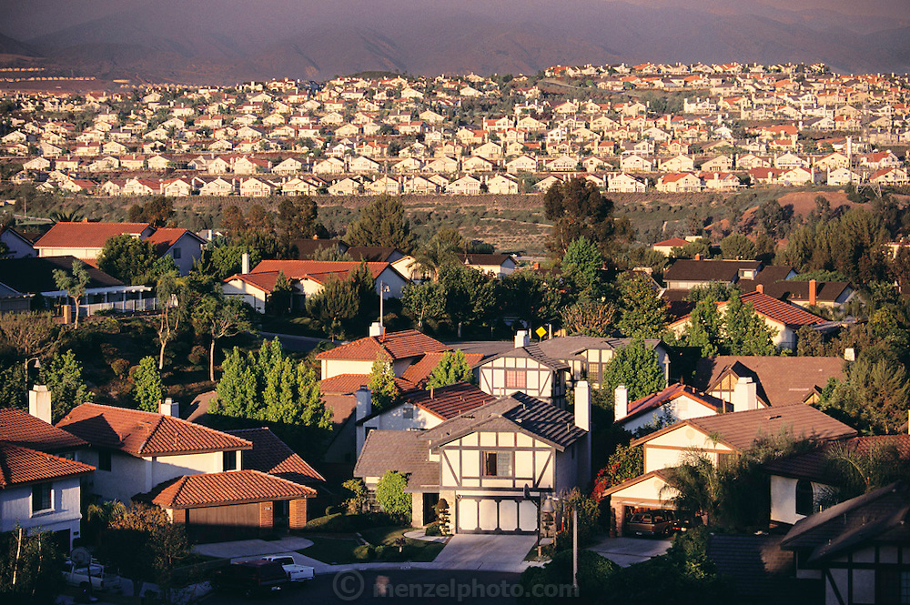 Mission Viejo in Orange County, California. Looking west from Vista del Lago Street.